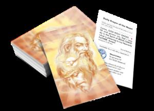 Bildchen mit Gebet zur Heiligsten DREIFALTIGKEIT